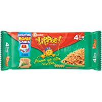 Sunfeast YiPPee! Power Up Atta, Whole wheat | instant noodles | Easy, nutritious meal | Four in One Pack, 280g Pack