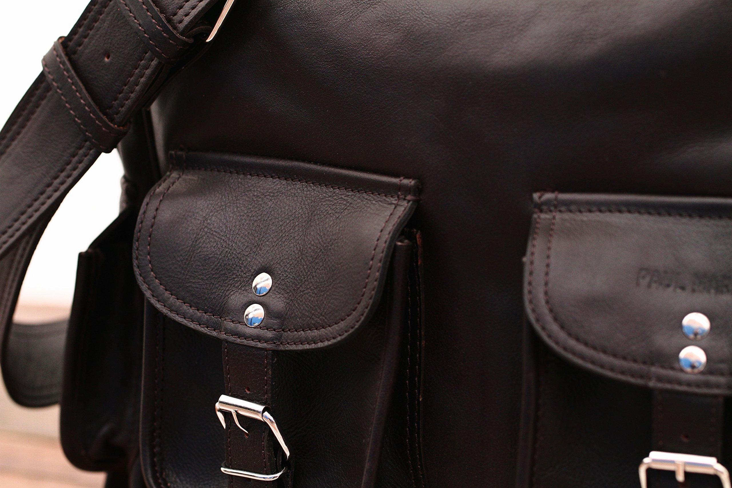 81pCW%2BQ1q5L - PAUL MARIUS LE MULTIPOCHES INDUS, Bolso bandolera de cuero, estilo vintage, bandolera de cuero, bolso con bolsillos…