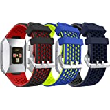 Syxinn Compatibel met armband Fitbit Ionic armband, vervangende horlogeband, band, zachte siliconen sportarmband, reserveband
