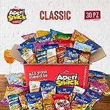 APERIBOX CLASSIC 30 - Snack box piena di patatine, snack salati, stuzzichini per aperitivo fai da te e frutta secca. Almeno 3