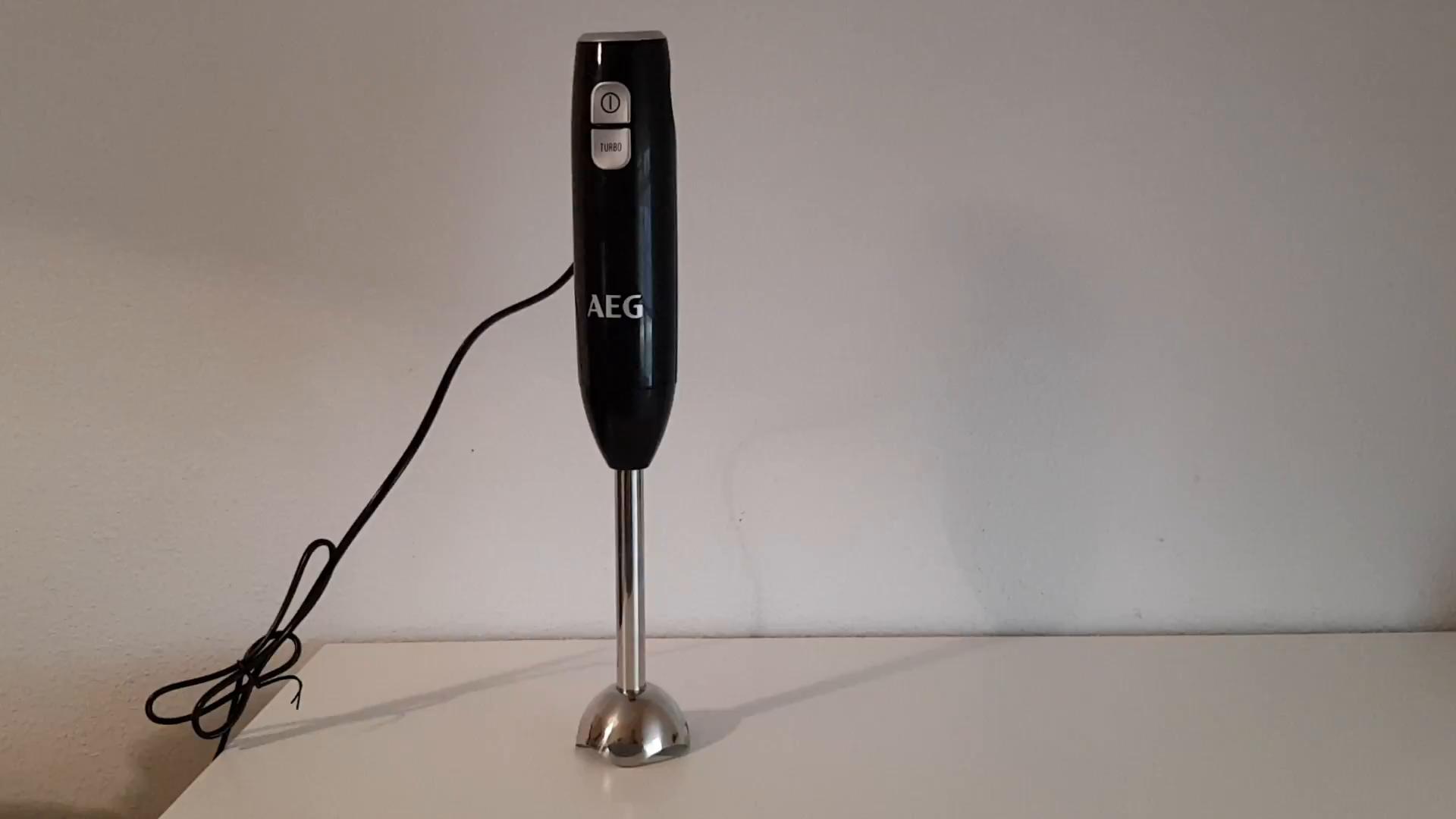 AEG STM3400 Batidora de mano, 600W, 2 velocidades, 85dB, pie de metal, múltiples accesorios: Amazon.es: Hogar