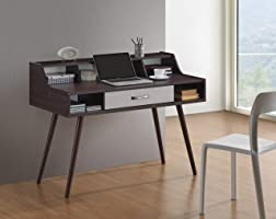 Maison Concept OF 6831 Wooden Desk, Brown & White - H 600 mm x W 600 mm x D 1200 mm