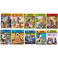 Amar Chitra Katha: Mixed Collection of 10 Books Across 5 Categories: Visionaries, Epics and Mythology, Fables and Humor…