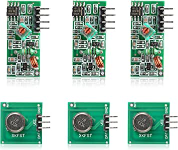 Aukru 3x 433MHz RF Wireless Transmitter and Receiver Module Kit for Arduino Raspberry Pi
