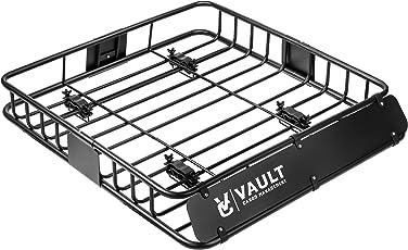 Universal Dachkorb von Vault Cargo Management–zur Befestigung am Dachgepäckträger Ihres Pkw, ideal für Gepäck, Boxen oder Reisetaschen, Maße: 112 cmx99 cmx12,7 cm
