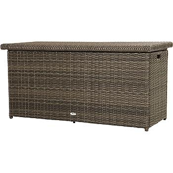 Ploß Outdoor furniture Rocking Kissenbox, 61 Liters, Grau-Braun ...