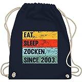 Shirtracer - Geburtstagsgeschenk Geburtstag - Eat Sleep Zocken Since 2003 18 Geburtstag - Turnbeutel und Stoffbeutel aus Baum