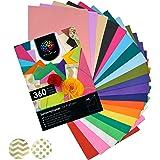 OfficeTree 360 Carta Velina Colorata A4-26 Colori Diversi - per Decorazioni Creative Lavoretti per Bambini e Adulti