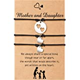 Cheerslife Madre Figlia Braccialetto per le donne Braccialetto dei desideri di corrispondenza del cuore del ritaglio delle ra