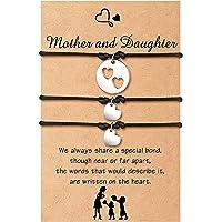 Cheerslife Madre Figlia Braccialetto per le donne Braccialetto dei desideri di corrispondenza del cuore del ritaglio…