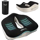 Cojin Coxis de Espuma Memoria - Feagar Cojines para sillas de Oficina, Cojín para Coche, Sillas Gaming, Rueda, Funda Lavable,
