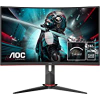AOC Gaming CQ27G2U 68 cm (27 Zoll) Curved Monitor (QHD, HDMI, DisplayPort, Free-Sync, 1ms Reaktionszeit, 144 Hz…