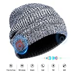 Wireless Bluetooth Beanie Hat Headsets with Siri Voice Control, Built-in HD Stereo Speakers and Microphone for Running