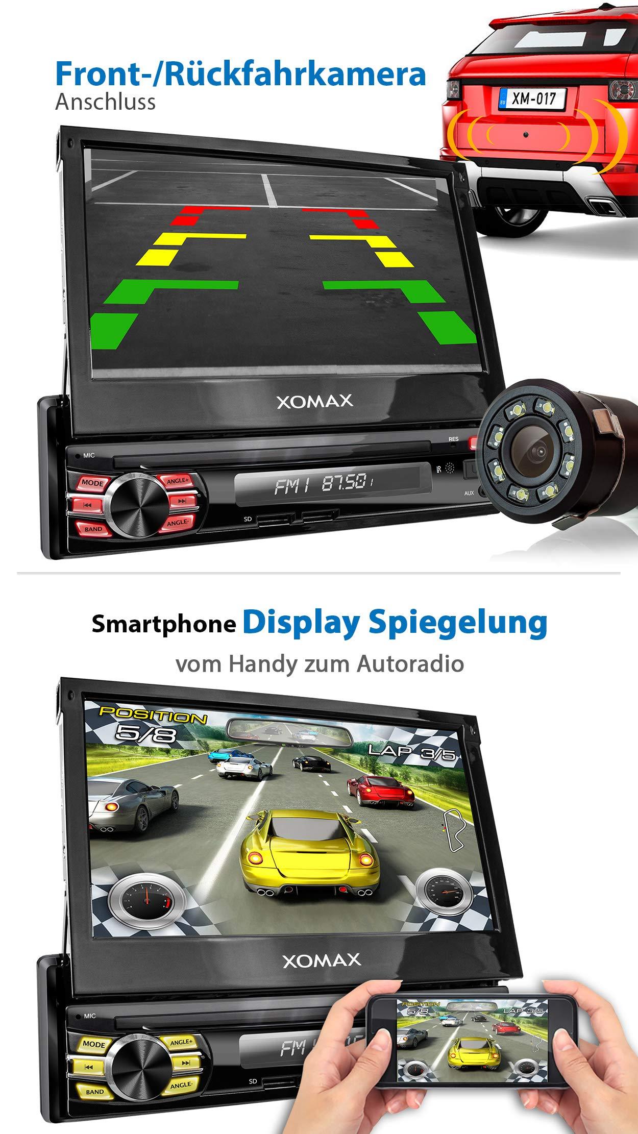 XOMAX-XM-VA707-Autoradio-mit-Android-81-QuadCore-2GB-RAM-16GB-ROM-GPS-Navigation-I-Support-WiFi-WLAN-3G-4G-DAB-OBD2-I-Bluetooth-7-Zoll-18-cm-Touchscreen-USB-SD-AUX-1-DIN