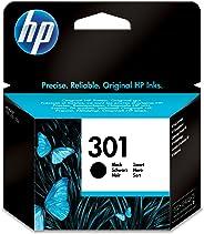 HP 301 Schwarz Original Druckerpatrone für HP Deskjet 1000, 1010, 3000, 1050, 1050A, 1510, 2050, 2050A, 2510, 2540, 3050, 3050A, 3055A, HP Officejet 2620, 4630; HP ENVY 4500, 4504, 5530