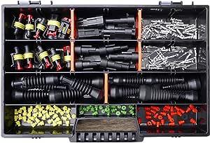 Amp Superseal 2 Polig Und 3 Polig 0 75mm 1 50mm Sortimentskasten Mit Gummitüllen Stecker Steckverbinder Elektrik Kfz Motorrad Lkw Quad Auto