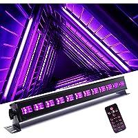 HOLDLAMP Schwarzlicht Röhre UV LED Schwarzlichtlampe DMX512 12 x 3W Schwarzlicht Strahler mit Fernbedienung Stecker…