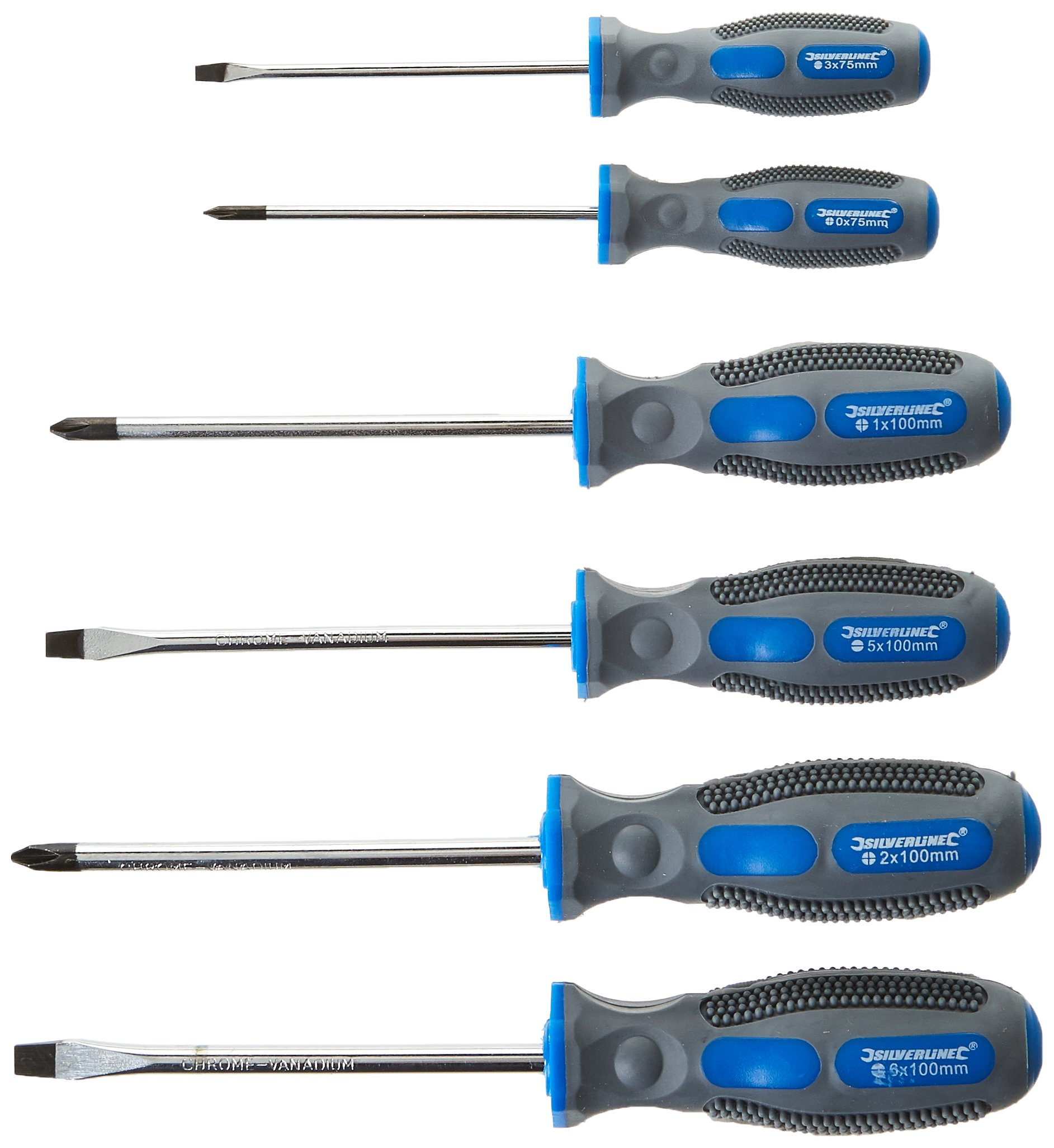 Silverline-546524-Set-6-cacciaviti-colore-Blu