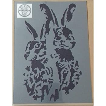 Shabby Chic Rams Sheep head plastic Stencil Vintage A4 297x210mm Furniture wall