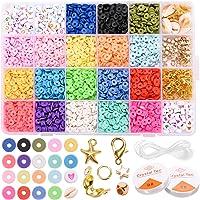 ZITFRI 3888 Pcs Kit Bracelet Perle Plate Perles en Argile Bijoux Fabrication Bracelet Collier pour Activités Manuelles…