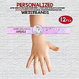 WoW Party Studio Personalized Unicorn Theme Wristbands