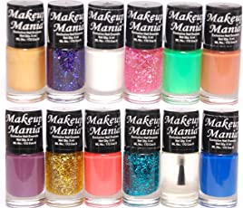 Makeup Mania Nail Polish (Multicolor, Set # 87(Pack of 12))