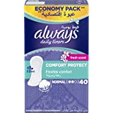 Always Daily Liners Comfort Protect Normal Fresh Scent 40 count