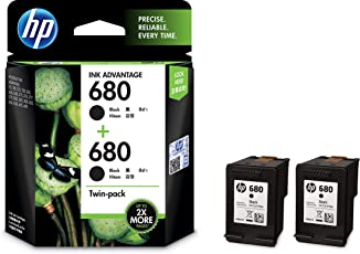 HP 680 Black Ink Cartridges Twin Pack (X4E79AA)