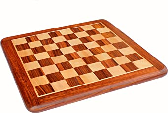 "StonKraft 21"" X 21"" Professional Collectible Rosewood Wooden Chess Game Board Without Pieces For Professional Chess Players"