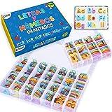 Letras y Números Magnéticos para Niños - Conjunto Completo: 182 Letras y 81 Números y Símbolos - Imanes Gruesos de Espuma par