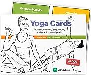 WorkoutLabs Carte di Yoga in plastica con linguaggio sanscrito per Lo Studio visivo, Il sequenziamento delle Classi, la Prat