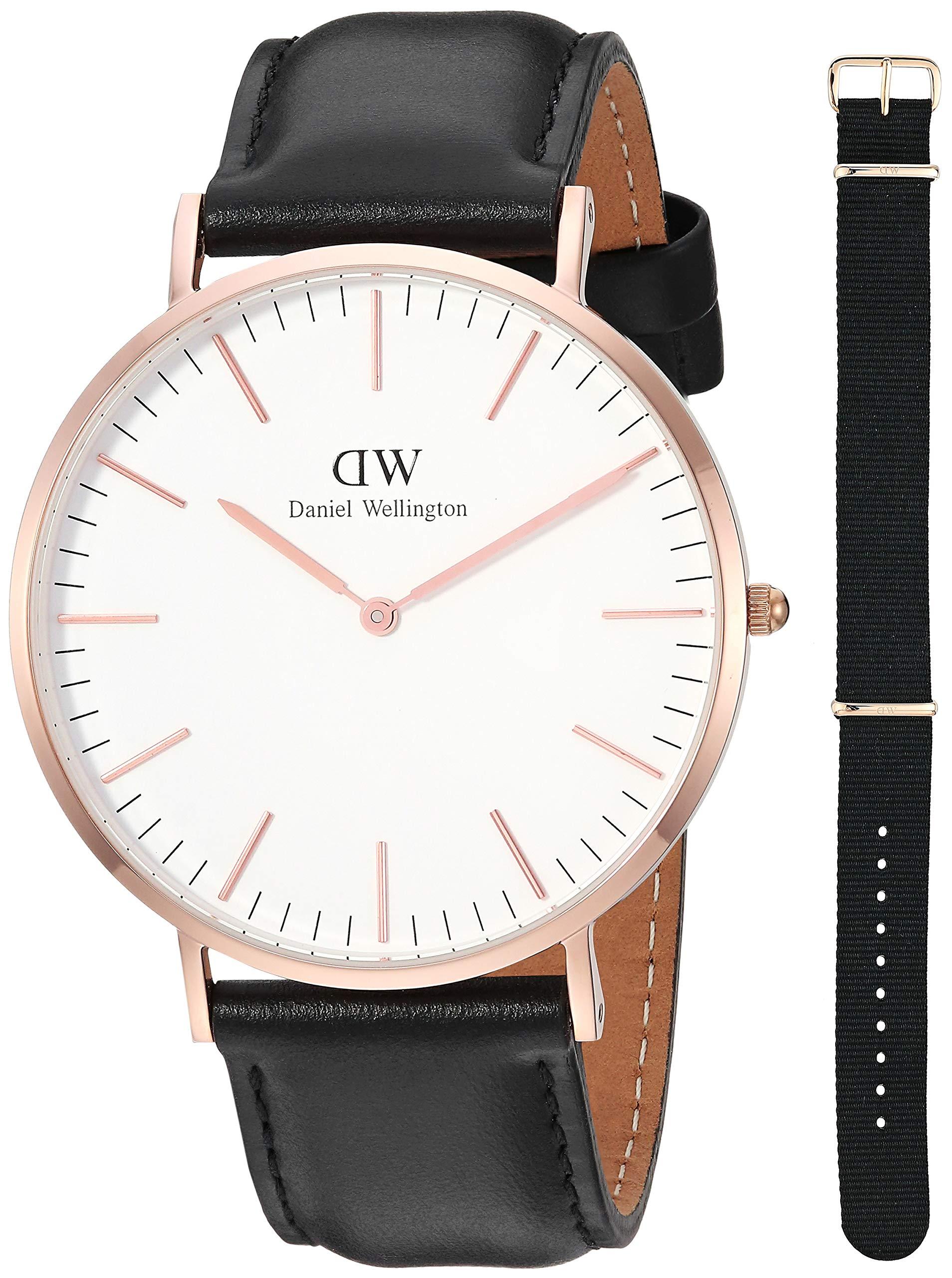 Daniel Wellington Reloj Analógico para Hombre de Cuarzo con Correa en Cuero DW00500002