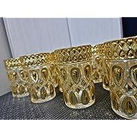 LS2 Lot de 12 verres à thé marocains multicolores N2