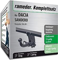 Rameder Komplettsatz, Anhängerkupplung Abnehmbar + 13pol Elektrik für Dacia SANDERO (113463-07539-1)