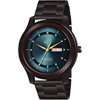 PIRASO Analog Latest Stunning DIAL with Stainless Steel Chain Day and Date Display Men's Watch (Blue, Brown)