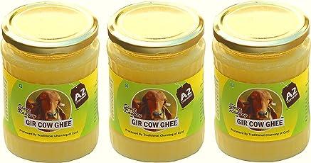 Shree Radhey Gir Cow ghee Radhey Traditional Bilona Churned A2 Gir Cow-Ghee (450 gms X 3)