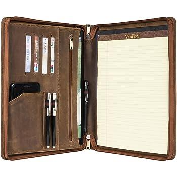417b46d44c9d1 Personalisierte Geschenk anpassbare Leder Padfolio Portfolio A4 Leder  Konferenzmappe