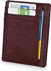 Triple B Kartenbörse für 8 Karten mit Geldscheinfach - Extra Dünn - RFID NFC Schutz im Hochformat