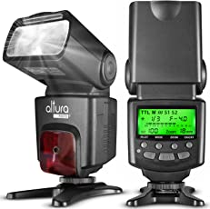 Altura Photo I-TTL Auto-Focus Dedicated Flash for Nikon DSLR with Protective Pouch, Diffuser, Microfibre Lens Cleaning Cloth