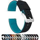 Barton Elite Bracelet de montre en silicone à dégagement rapide – Couleur au choix – 18 mm, 19 mm, 20 mm, 21 mm, 22 mm, 23 mm