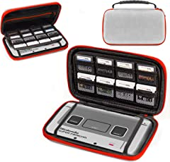 3DSXL Case, Orzly Carry Case for New 3DS XL or Nintendo 3DS XL - Protective Hard Shell Portable Travel Case Pouch for 3DS XL Consoles with Slots for Games & Zip Pocket - RED on GREY