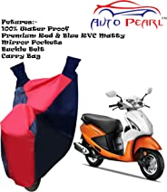 Autopearl Bike Body Cover forPleasure (Blue and Red)