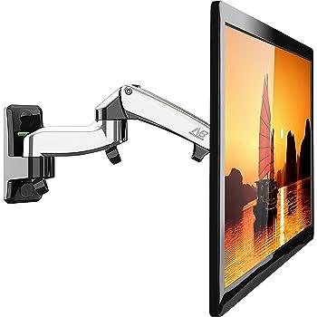 STANDMOUNTS F150SILVER Supporto da Parete per TV da 17 a 27 Pollici con Schematiche VESA fino 100 x 100 mm e peso fino a 7 kg, con molla a gas per ufficio casa