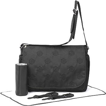 05c466c2c35c Primrose Hill Embroidered Messenger Style Baby Change Bag (Black ...