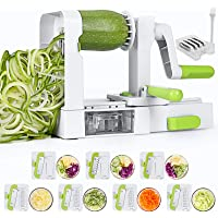Sedhoom Coupe Legume, Spiralizer 7 Lames Coupe-légumes Spirale de Légumes, Spiralizer Legume Spaghetti, Pliable…