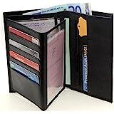 Portefeuille Homme Porte Carte Crédit Visite Monnaie En Cuir Synthétique Neuf G, Noir, Taille unique