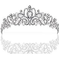 ZWOOS Wedding Tiara, Nuziale Diadema con Cristalli Strasscon Pettine per La Cerimonia Nuziale, Proms, spettacoli…