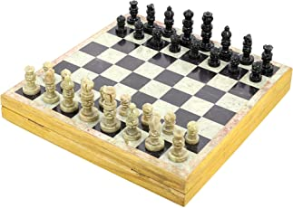 Rajasthan Stone Art Unique Chess Sets and Board Size 12 x 12 inches