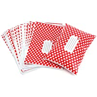 50PCS Polka Dot Mailing Postal Bags Strong Plastic Polythene Self Seal Packing Packaging Postage Mail Sacks Envelopes (Red, 6
