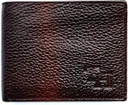 TANNED HIDES Brown Leather Men's Wallet